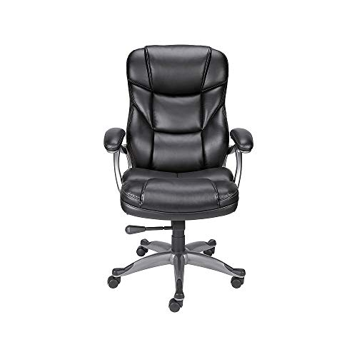 Staples 923523 Osgood Bonded Leather High-Back Manager's Chair Black