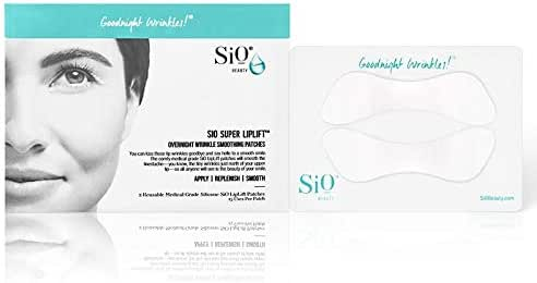SiO Beauty Super LipLift | Smile & Lip Anti-Wrinkle Patches 2 Week Supply | Overnight Smoothing Silicone Patches For Lip & Smile Wrinkles And Fine Lines