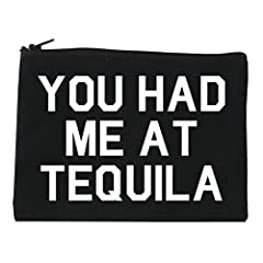 You Had Me At Tequila Cosmetic Makeup Bag by Fashionisgreat. This makeup bag is made of cotton canvas available in 3 different sizes: SMALL (7 x 5 inches) | MEDIUM (9 x 5 inches) | LARGE (10 x 7 inches)