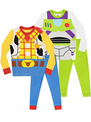Disney Boys' Toy Story Pajamas 2 Pack Size 7 Multicolored