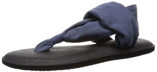 Sanuk Women's Yoga Sling 2 Flip Flop, Slate Blue, 6 M -