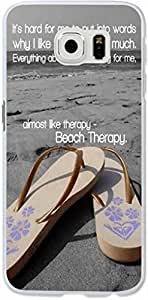 S6 Case Dseason Samsung Galaxy S6 Hard Case High Quality Unique Design Protector quotes beach therapy