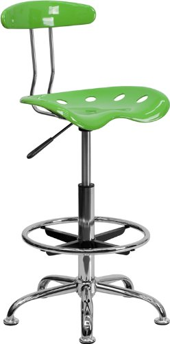 UPC 847254034876, Flash Furniture LF-215-SPICYLIME-GG Vibrant Spicy Lime and Chrome Drafting Stool with Tractor Seat