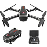 Alician Drone Trajectory Flight Altitude Hold G-Sensor 3D Flips 6-Axis Gyro Gimbal ZLRC Beast SG906 5G WiFi GPS FPV with 4K Camera and EPP Suitcase 2电池