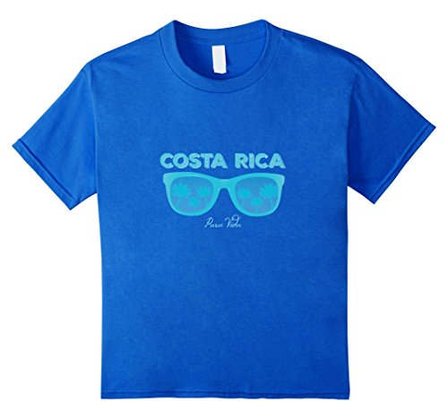 Kids Costa Rica Souvenir Blue Sunglasses T-shirt 10 Royal - Rica Sunglasses Costa