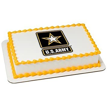 8 Round US Army Edible Image Cake Topper Amazoncom Grocery