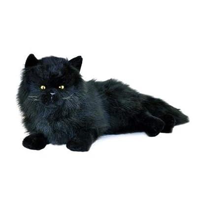 Bocchetta Plush Toys Onyx Black Cat, Chantilly Persian Long-haired Stuffed Animal Lying Kitty Toy, 38cm/15″: Toys & Games