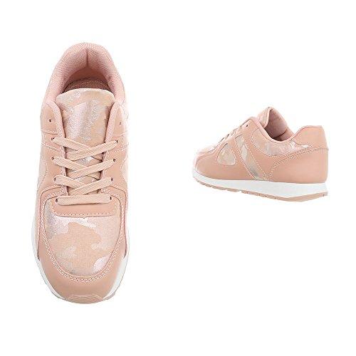 Sneaker Antico Donna design Rosa Ital 5v4x81FW