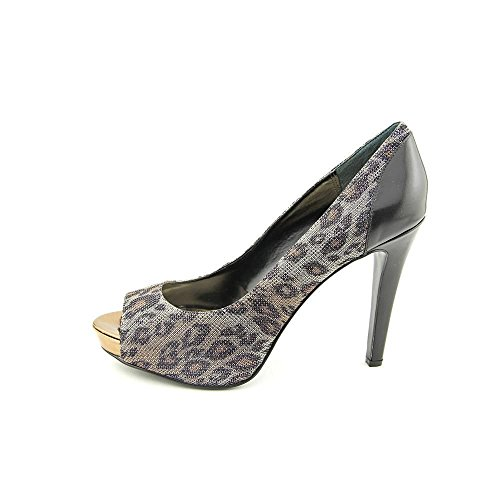 Falchi By Falchi Giselle Womens Size 7.5 Leopard/black Textile Pumps Heels Shoes Used 9uKdfFRf