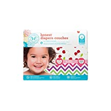 The Honest Company Diapers, Chevron and Cherries, 60 Count, Size 4