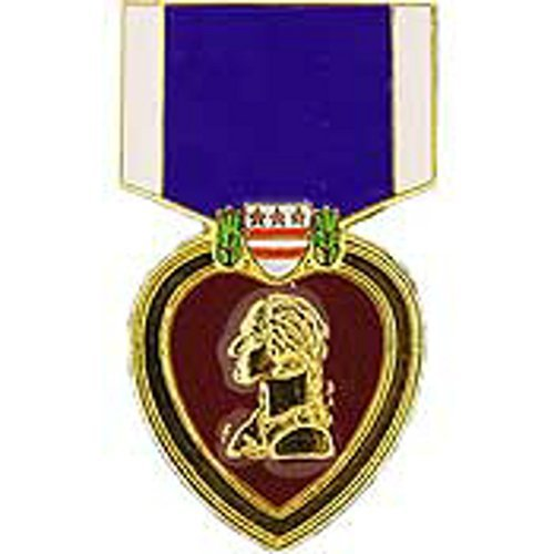 Military Heart Medal (Purple Heart Medal Pin Military Collectibles for Men Women)