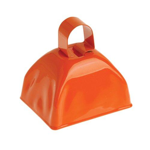DollarItemDirect School Spirit Metal Cowbells Orange, Sold by 7 Dozens by DollarItemDirect