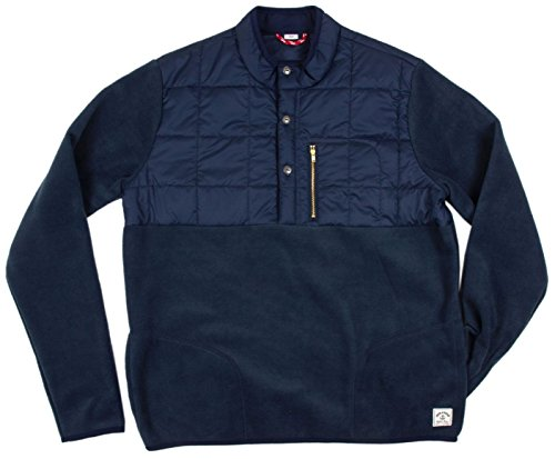 Iron & Resin Peak Pullover Fleece Shirt - Navy Medium