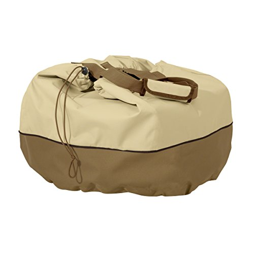 Classic Accessories 55-973-031501-00 Veranda Portable Round Table Top Grill Cover & Carry Bag