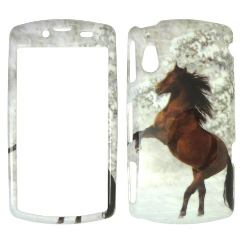 Sony Phone Faceplates (Sony Xperia Play R800i - Beautiful Horse Snow and Tree Hard Case, Cover, Snap On, Faceplate)