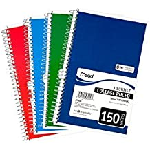 """Mead 3-Subject Wirebound College Ruled Notebook, 9.5"""" x 5.5"""", Pack Of 6"""