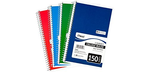 Mead 3-Subject Wirebound College Ruled Notebook, 9.5