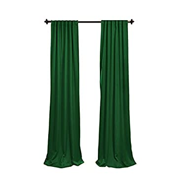 LA Linen Polyester Poplin Backdrop Drape (2 Pack), 96 x 58 , Emerald Green