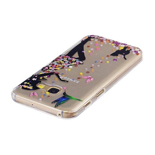 Funda Galaxy A3 2017, CaseLover Carcasa para Samsung Galaxy A3 2017 A320 (4.7 Pulgadas) Ultra Delgado Transparente Suave Silicona TPU Flexible Gel Protectora Cubierta Resistente a los Arañazos Tapa Li Niña
