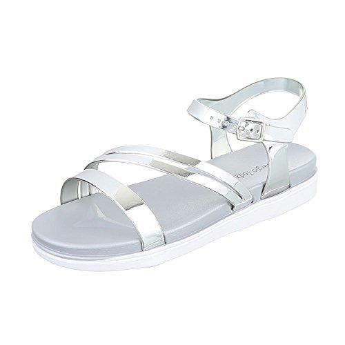 Ital-Design - Tira de tobillo Mujer plata