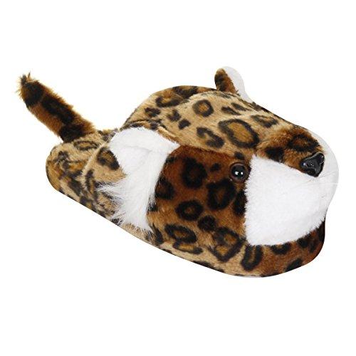 Pantofole Di Design Leopardo Delle Donne / Signore Leopardo Scuro