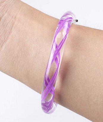 2015 Transparent Texture LED Flashing Color Changing Bracelet Glow Bracelet