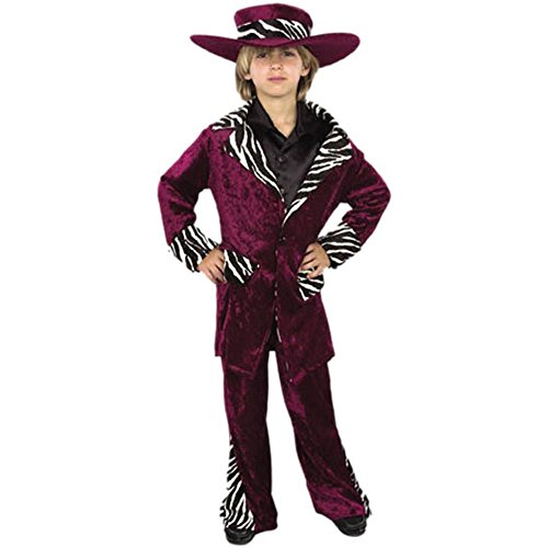 Child Pimp Suit Costume Size: Youth X-Small 4-6 Color: Pink (Pink Pimp Costumes)