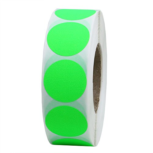 Hybsk(TM) 1 Inch Round Blank Fluorescent Green Shooting Target Pasters | Total 1,000 Adhesive Target Dots Per Roll (1 Roll) (Wedding Shooting Target compare prices)