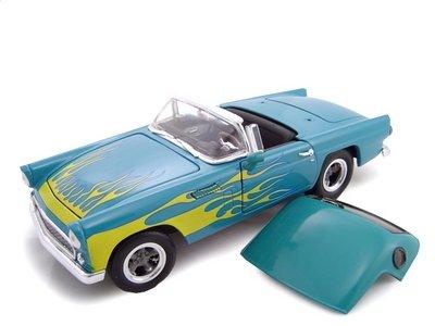 1956 Ford Thunderbird Street Rod Blue/Flames 1/24