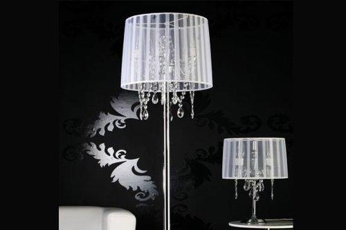 Stehlampe Venezianischer Kronleuchter ORGANZA Weiss: Amazon.de: Küche U0026  Haushalt
