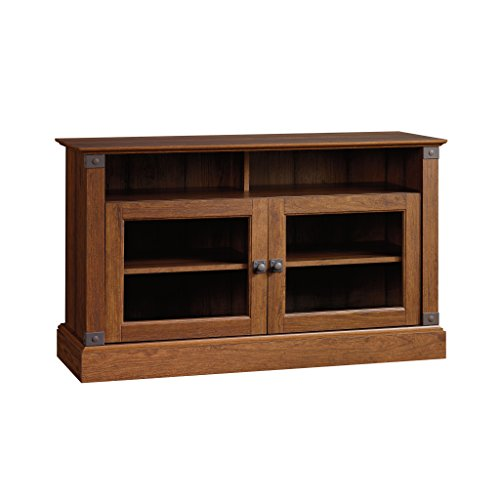 Sauder Carson Forge Panel TV Stand, Washington Cherry - Finish Cherry Pedestal