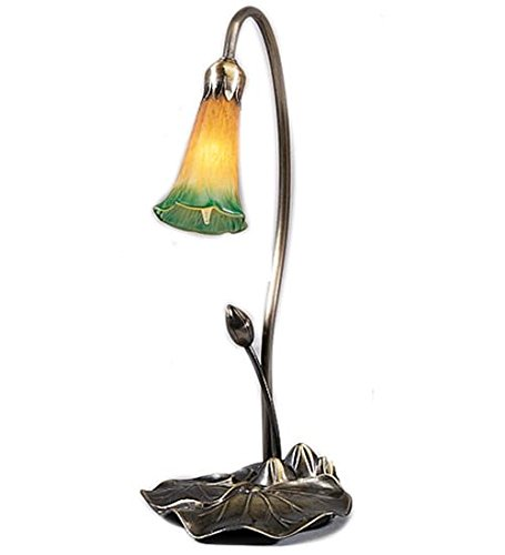 Meyda Tiffany 12386 Pond Lily Accent Lamp, 16