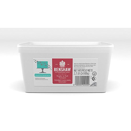 Ready To Roll Fondant Icing Aqua 2 2Lbs  For Cake Decorating By Renshaw Americas