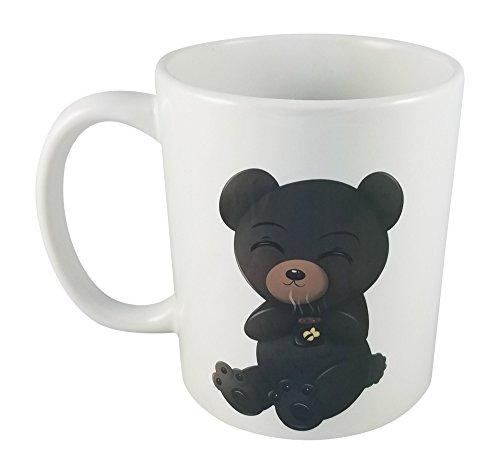 Exclusive Design By Seventy-One Trading Company-Cute &Amp; Kawaii Chibi Character Drinking Coffee Standard 11Oz Ceramic Mug -