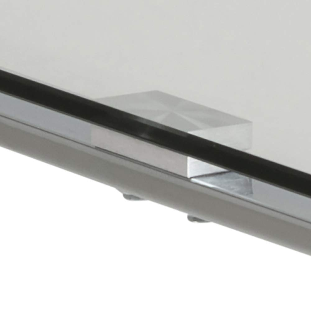 Movian Somes Brand 50 x 50 x 55 cm plateado Mesa auxiliar para l/ámpara largo x ancho x alto