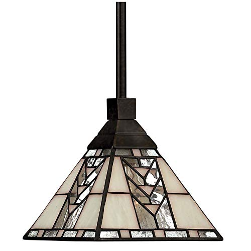 (Hinkley 4717RB Tiffany/Mica One Light Pendant from Tahoe collection in Bronze/Darkfinish,)