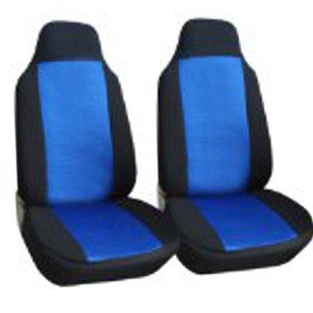 Unique Imports Classic Premium Bucket Cloth Car Truck Auto Seat Covers BLACK/BLUE color