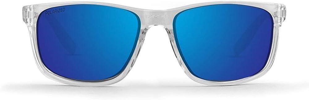 New Epoch Eyewear Delta 2 Crystal Framed Polarized Super-Hydrophobic Blue Lens