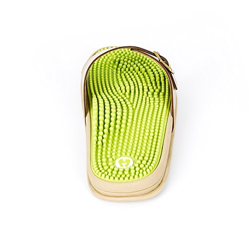 Revs Retro Reflexology Massage Sandals Women. Revs Retro Zoneterapi Massage Sandaler Kvinder. Shock Absorbing, Cushion Sole With Orthotic Arch Green Ivory Stødabsorberende, Pude Sål Med Orthotic Arch Grøn Elfenben
