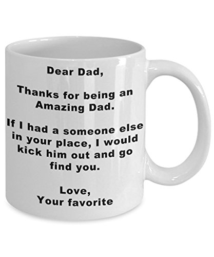Fathers day MUG favorite Child ~ Birthday Present/Christmas gift for Dad, Papa, Father, Grandpas from Son, Daughter, Wife, Grand kids, mediocre dad mug - White Cool coffee Mug 11 Oz Tea Cup (Mighty Girl Nemo Costume)