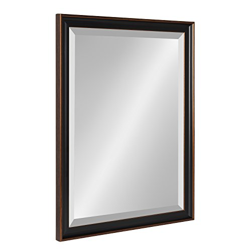 Kate and Laurel Havana 20.5x26.5 Framed Beveled Wall Mirror, Oil Rubbed -