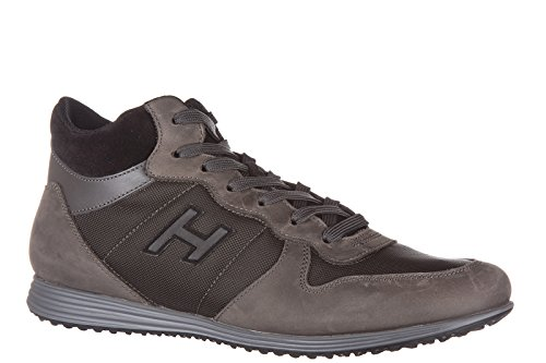 Hogan chaussures baskets sneakers homme en cuir mid cut h205 olympia h flock mar