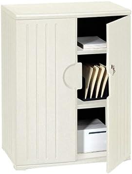 Amazon Com Iceberg Officeworks 2 Door Storage Cabinet Finish Platinum Office Products