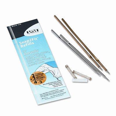 Sentry Counter Pens (Refill for Preventa, MMF Kable and Sentry Counter Pens, Medium, Black, 2/pack [Set of 3])