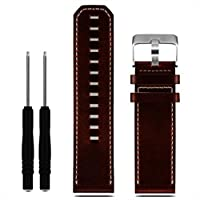 Men Fashion Luxury Leather Strap Replacement Watch Band,Ninasill Sport Exclusive Black watch With Tools screwdriver