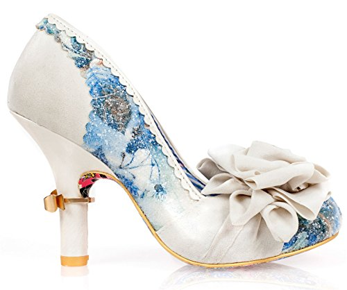 Irregular Choice Washington Cream Multi Mujeres Hi Heels Zapatos
