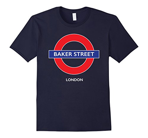 Shops Regent Street London (Mens Baker Street - London Tube Underground Shirt 2XL Navy)