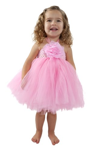 [Little Girls Tutu Dresses with Matching Silk Flower Headband Set (Medium 3 - 4 Years)] (Ballerina Costumes For Toddler)