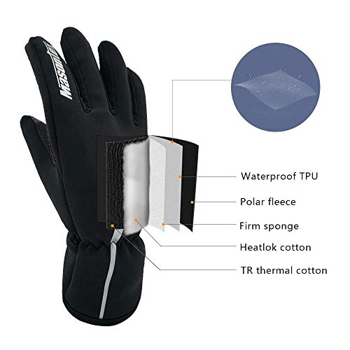 Sunshine Top Waterproof Winter Gloves for Men & Women, Cold Weather Windproof Touchscreen Anti-Slip Thermal Warm Gloves Outdoor Sport Running Driving Cycling Gloves