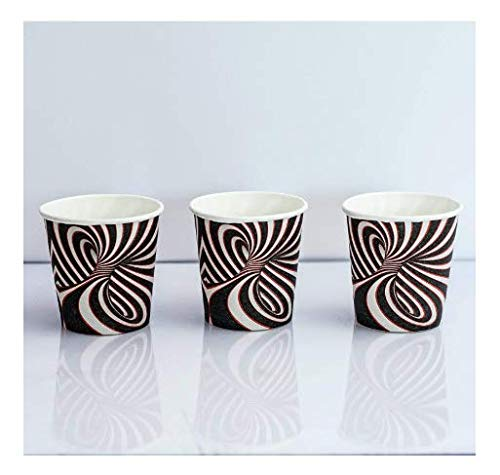 SGdirect Espresso Disposable Paper Cups with Unique